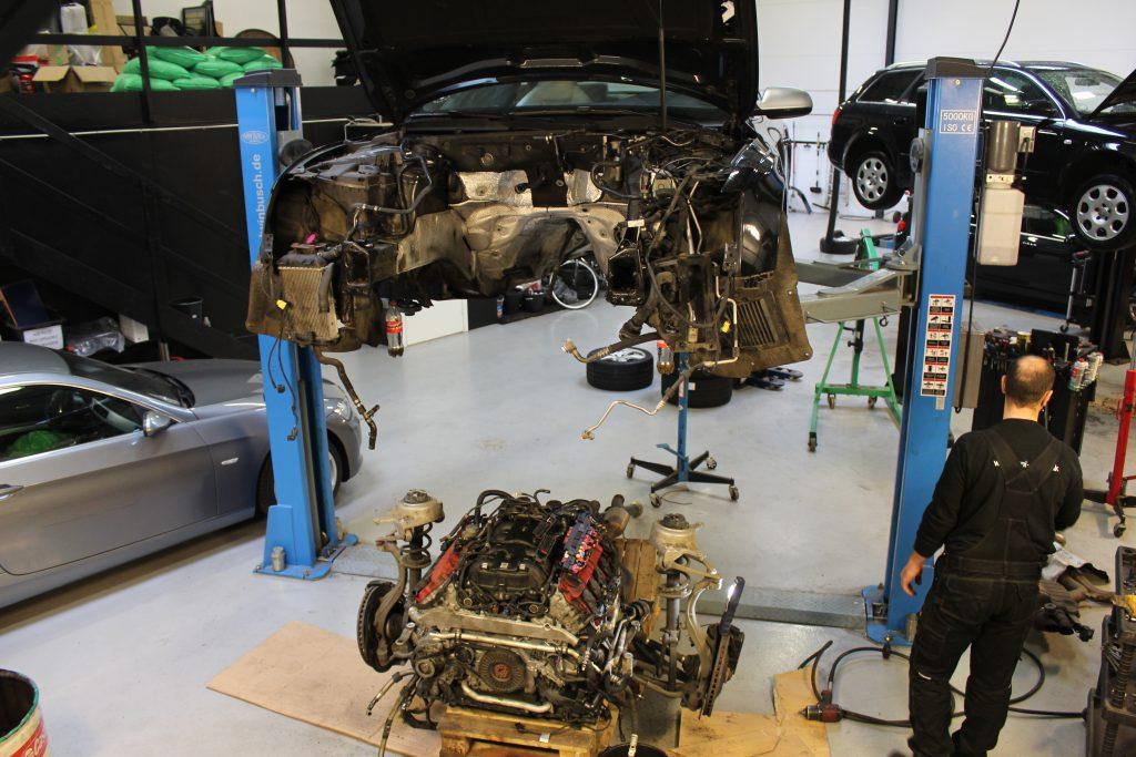 Motorreparation på Audi RS5