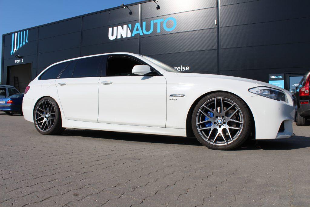 Justering af luftundervogn på BMW 335 xdrive